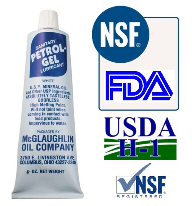 Petrol Gel Keg Lube Food Grade Sanitary Lubricant O Ring White Petro
