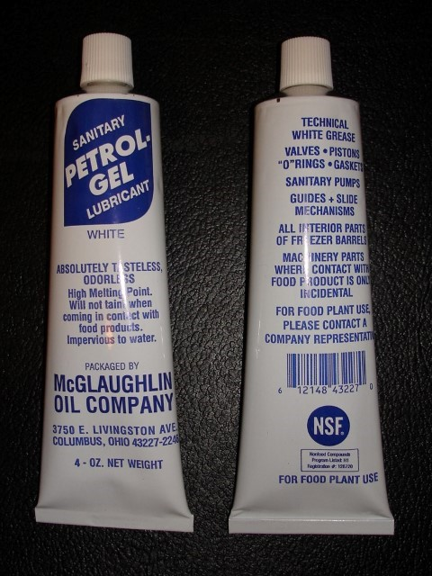 Petrol Gel Keg Lube Food Grade Sanitary Lubricant O Ring